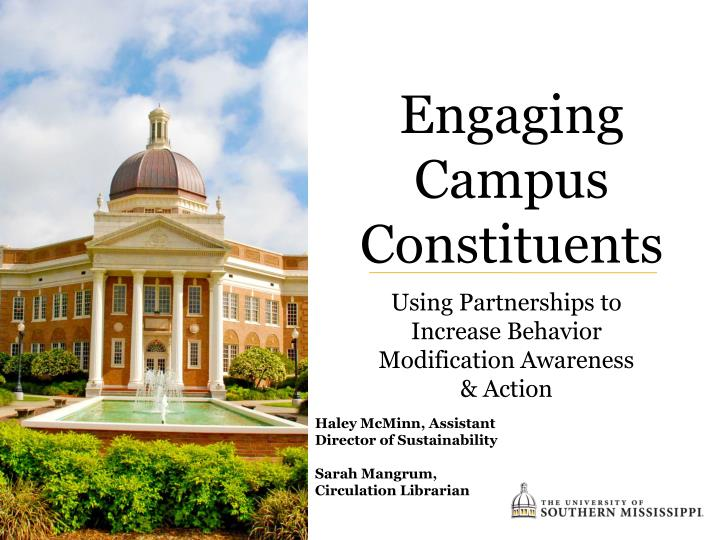 engaging campus constituents n.