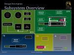 design description subsystem overview