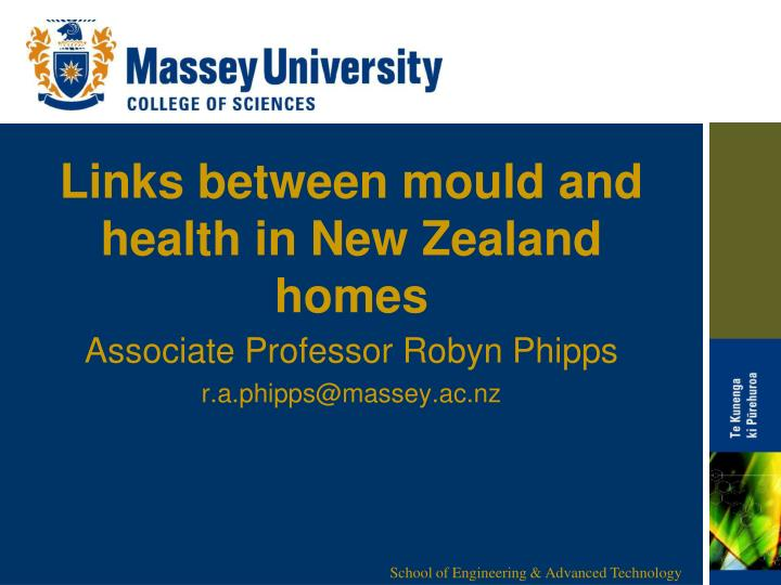 links between mould and health in new zealand homes n.