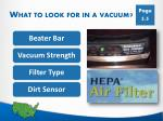 what to look for in a vacuum