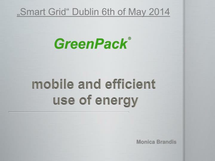 mobile and efficient use of energy n.