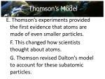 thomson s model1