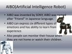 aibo artificial intelligence robot