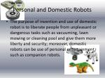 personal and domestic robots