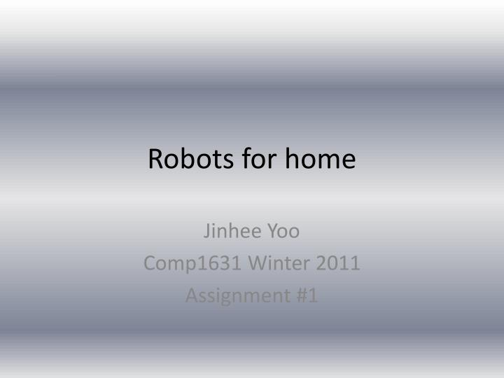 robots for home n.