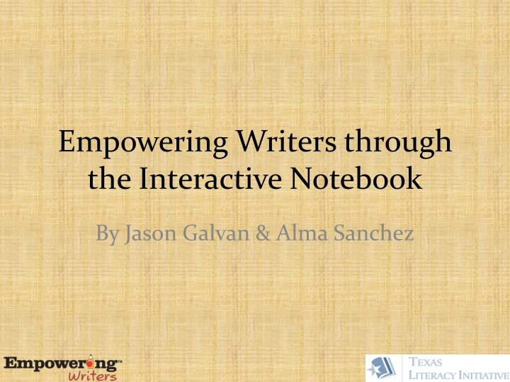 empowering writers through the interactive notebook n.