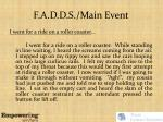 f a d d s main event