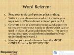 word referent