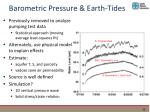 barometric pressure earth tides