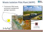 waste isolation pilot plant wipp