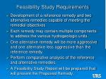 feasibility study requirements