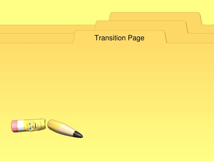 Transition Page