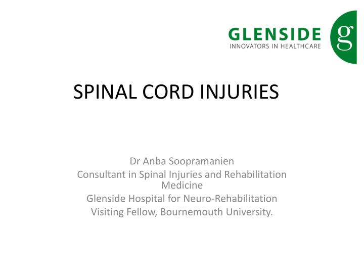 spinal cord injuries n.