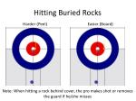 hitting buried rocks