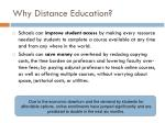 why distance education1