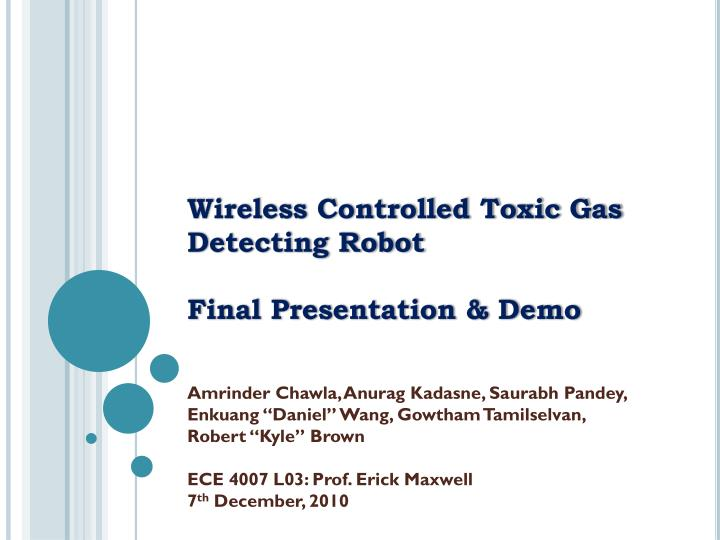 wireless controlled toxic gas detecting robot final presentation demo n.
