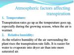 atmospheric factors affecting transpiration1