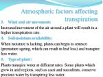 atmospheric factors affecting transpiration2