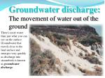 groundwater discharge the movement of water out of the ground