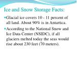 ice and snow storage facts