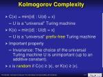 kolmogorov complexity1