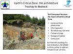 earth s critical zone the architecture treetop to bedrock