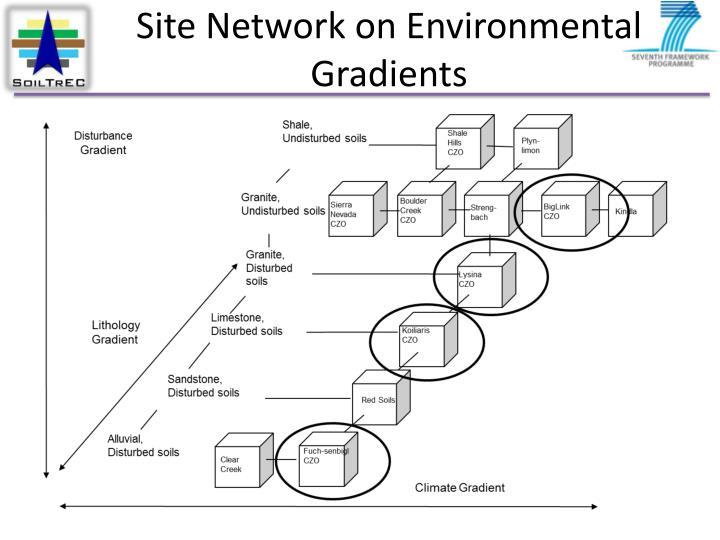 Site Network on Environmental Gradients