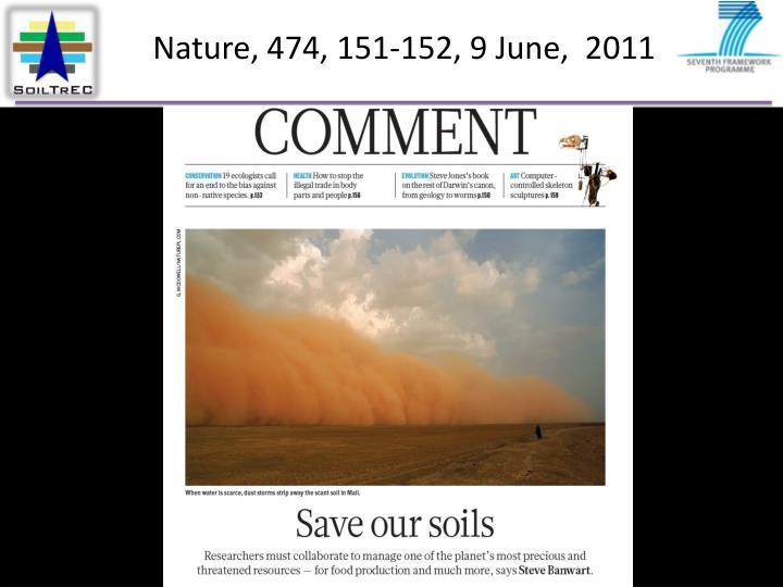 Nature, 474, 151-152, 9 June,  2011