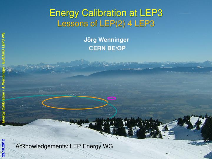 energy calibration at lep3 lessons of lep 2 4 lep3 n.