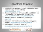 ii bioethics response
