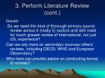 3 perform literature review cont