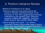 3 perform literature review