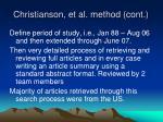 christianson et al method cont