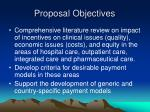 proposal objectives