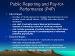 public reporting and pay for performance p4p