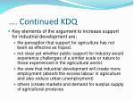 continued kdq