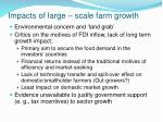 impacts of large scale farm growth
