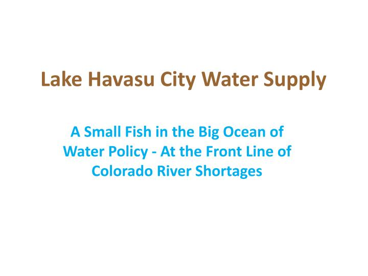 lake havasu city water supply n.