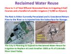 reclaimed water reuse