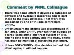 comment by pnnl colleague