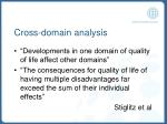 cross domain analysis