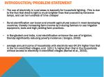 introduction problem statement