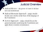 judicial overview
