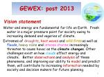 gewex post 2013