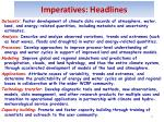 imperatives headlines