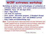 wcrp extremes workshop