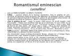 romantismul eminescian luceaf rul