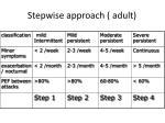 stepwise approach adult