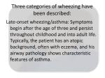 three categories of wheezing have been described2