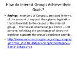 how do interest groups achieve their goals4